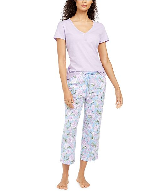 Charter Club T-Shirt & Pants Pajama Separates, Created for Macy's