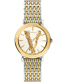 Women's Swiss Virtus Two-Tone Stainless Steel Bracelet Watch 36mm