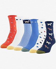 GOLDTOE® Women's 6-Pk. American Animals Midi Socks