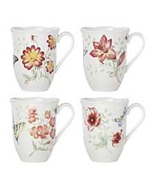 Butterfly Meadow Red Set/4 Mug, Created for Macy's