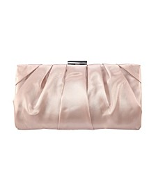 Shiny Pleated Frame Clutch