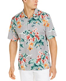 Men's Tropical Print Camp Shirt, Created for Macy's