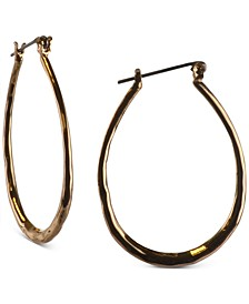 """Gold-Tone Hammered Medium Oval Hoop Earrings, 1-1/2"""", Created for Macy's"""