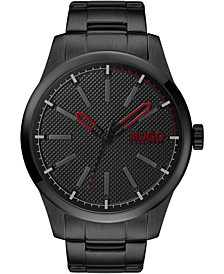 Men's #Invent Black Stainless Steel Bracelet Watch 46mm