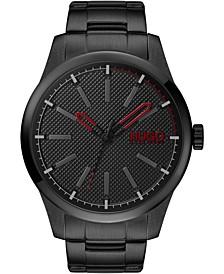Men's #Invent Black Stainless Steel Bracelet Watch 46mm