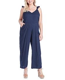 Trendy Plus Size Martina Printed Jumpsuit