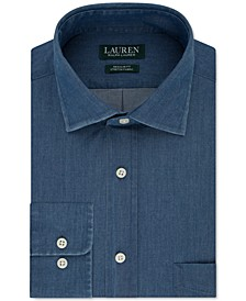 Men's Heritage Classic-Fit Indigo Solid Dress Shirt