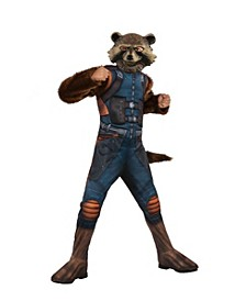 Avengers Big Girl and Boy Rocket Raccoon Deluxe Costume