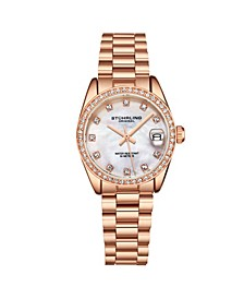 Women's Rose Gold Stainless Steel Bracelet Watch 31mm