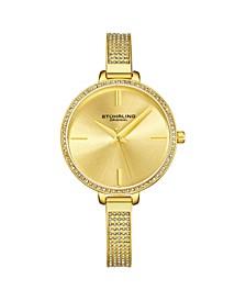 Women's Gold Tone Mesh Stainless Steel Bracelet Watch 36mm