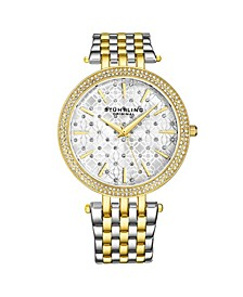 Women's Silver - Gold Tone Layered Stainless Steel Bracelet Watch 39mm
