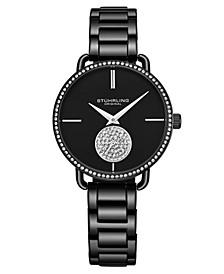 Women's Black Stainless Steel Bracelet Watch 38mm