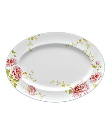 Peony Pageant Medium Oval Platter
