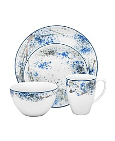 Blue Nebula 4 Piece Place Setting