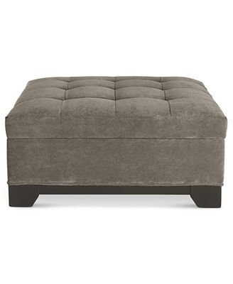 Fabric Ottoman With Storage Elliot Fabric Storage Ottoman Created For Macy's  Furniture  Macy's