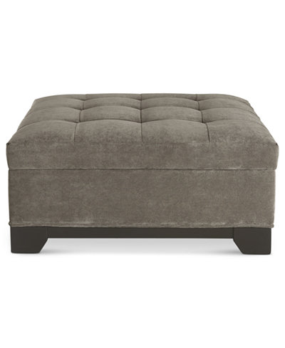 Elliot Fabric Storage Ottoman - Ottomans And Benches - Macy's