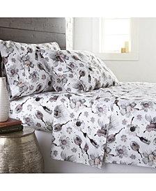 Southshore Fine Linens Watercolor Symphony Luxury Cotton Sateen 4 Piece Extra Deep Pocket Sheet Set, Queen