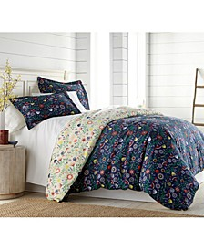 Boho Bloom Duvet Cover and Sham Set, King