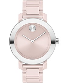 Women's Swiss Bold Blush Ceramic Bracelet Watch 36mm