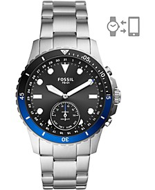Men's FB-01 Stainless Steel Bracelet Hybrid Smart Watch 42mm