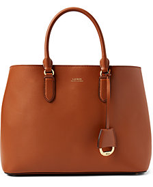 Lauren Ralph Lauren Dryden Marcy Leather Satchel