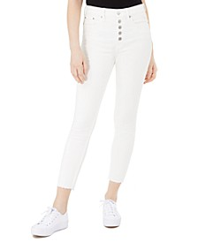 Button-Fly Ankle Skinny Jeans