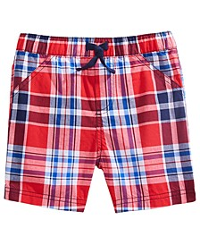 Baby Boys Red, White & Blue Plaid Shorts, Created for Macy's
