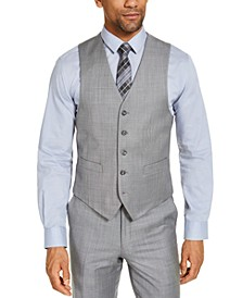 CLOSEOUT! Men's Classic-Fit Airsoft Stretch Grey Solid Suit Vest