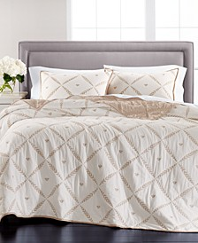 Honey Bee Embroidery Quilt and Sham Collection, Created for Macy's