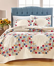 Artisan Sunflower Patchwork Full/Queen Quilt, Created for Macy's