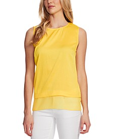 Chiffon-Hem Sleeveless Top