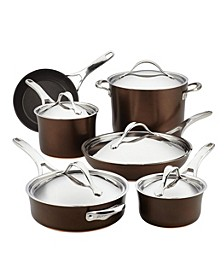Nouvelle 11-Pc. Copper Luxe Sable Hard-Anodized Non-Stick Cookware Set