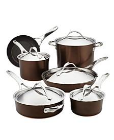 Nouvelle 11-Pc. Copper Luxe Sable Hard-Anodized Non-Stick Cookware Set