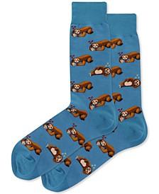 Men's Pizza Sloth Crew Socks