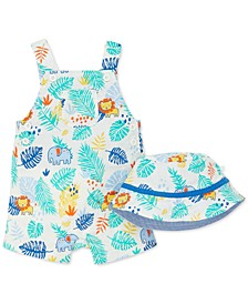 Baby Boys Palms Sunsuit & Hat Set
