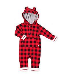 Hot Cocoa Baby Boys and Girls Hooded Jumpsuit