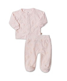 Baby Girls 2 Piece Footed Pajama