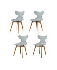 Whale Leisure Dining Chair, Set of 4