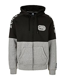 Men's Pieced Together Full Zip Sherpa Hoodie