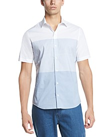 Men's Performance Stretch Colorblock Stripe Short Sleeve Shirt
