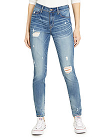 Rewash Juniors' Julie Ripped Denim Jeggings