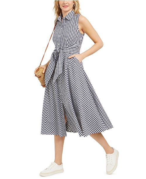 Charter Club Mommy & Me Cotton Gingham-Print Shirtdress, In Regular and Petite, Created for Macy's