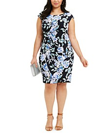 Plus Size Ruched Side-Tab Sheath Dress