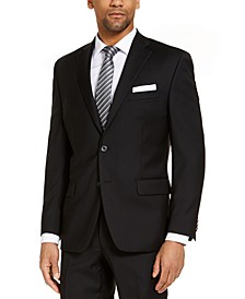 CLOSEOUT! Men's Classic-Fit Airsoft Stretch Black Solid Suit Jacket