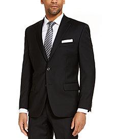 CLOSEOUT! Michael Kors Men's Classic-Fit Airsoft Stretch Black Solid Suit Jacket