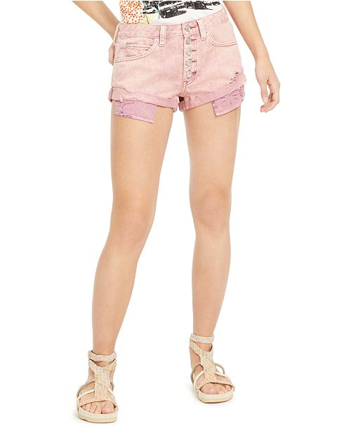 Free People Romeo Rolled Cutoff Denim Shorts