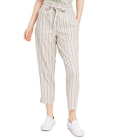 Juniors' Striped Pull-On Pants