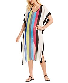 Striped Maxi Cover-Up Dress