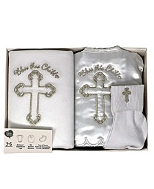 Baby Boys and Girls 3-piece Christening Gift Set