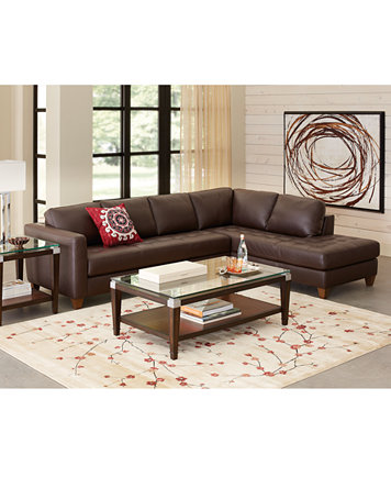 Milano Leather Living Room Furniture Sets & Pieces - Furniture ...